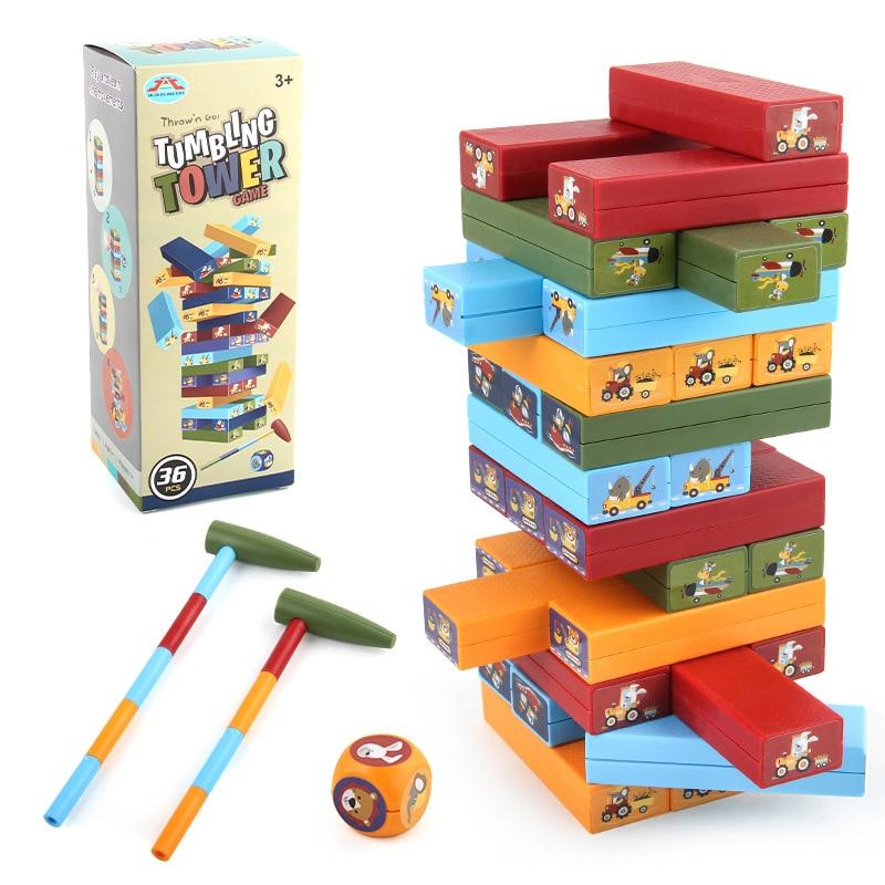 Тизеры из дерева для стук строительные блоки для детей Обучающие Игрушки для раннего развития Монтессори, подарок на день рождения, наряд д...