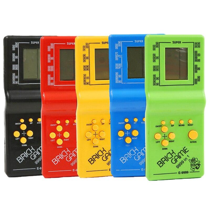 Пластиковая портативная игровая приставка для тетрис с ЖК-дисплеем, электронные игрушки, Карманная игровая консоль, классический подарок д...