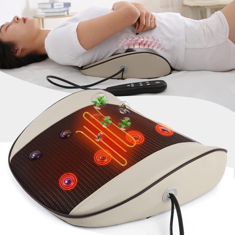 Electric Waist massage Equipment  Multi-Mode Pulse Body Massager  Magnet Infrared Waist Cushion Stretch Lumbar Spine  Relax Body