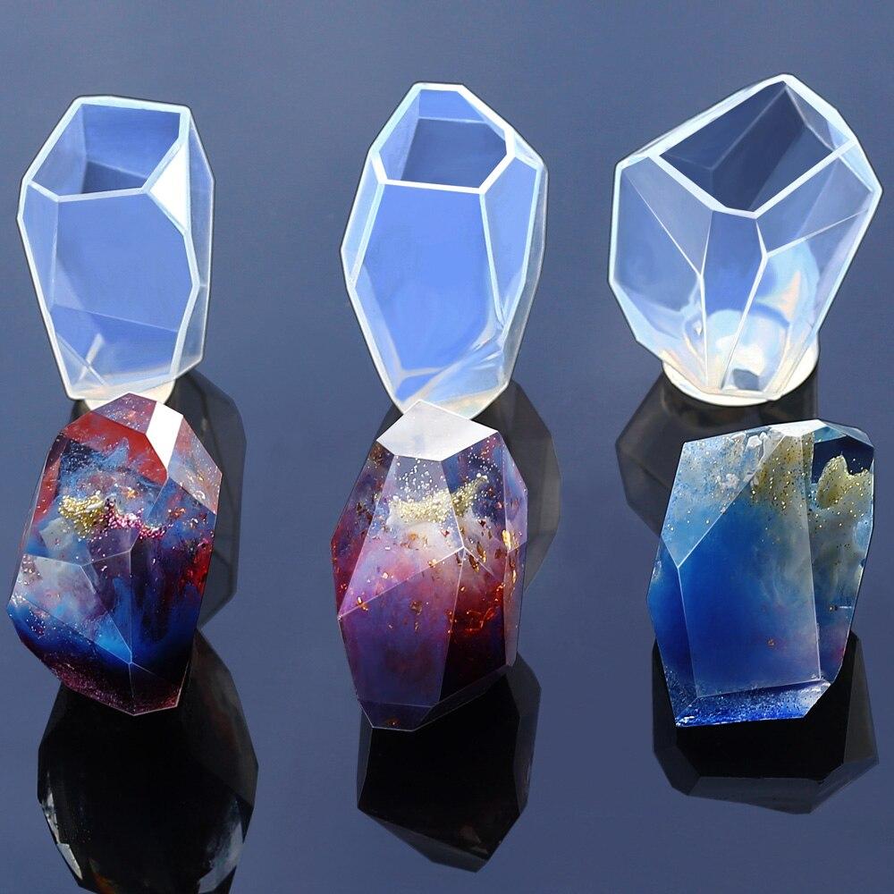 Molde de silicona transparente, flor seca, resina decorativa, artesanía DIY, molde de piedra, forma de corte, Moldes de resina epoxi para joyería