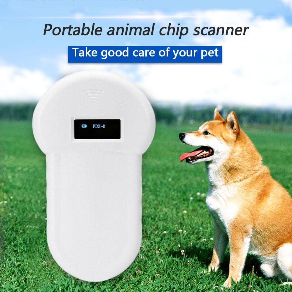 Pet Tragbare 134,2 KHz Pet RFID Chip Reader ISO11784/11785 Tag Scanner Barcode Microchip FDX-B LCD Display Für Hund katze Anima J9P4