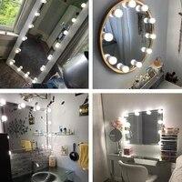led make up mirror light bulbs usb hollywood vanity makeup mirror lights bathroom dressing table lighting dimmable led wall lamp