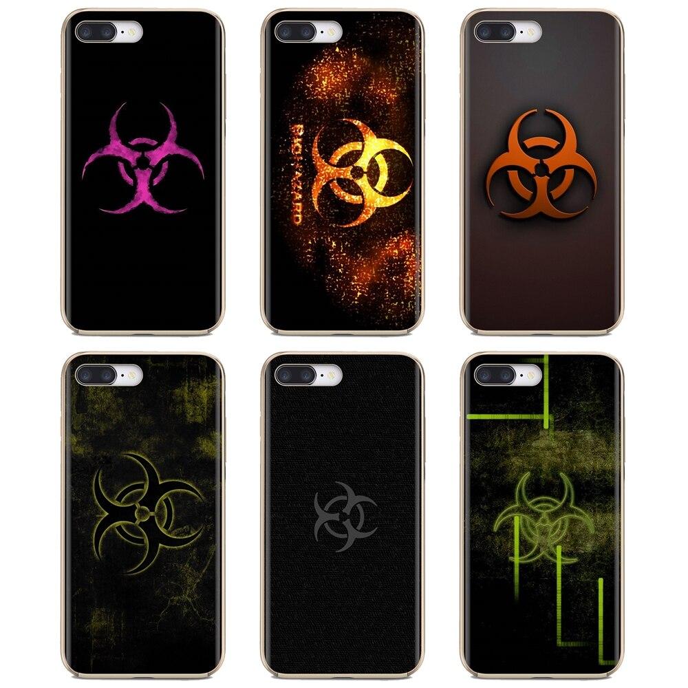 Sci Fi Biohazard Logo Silicone Housing For iPhone 11 Pro 4 4S 5 5S SE 5C 6 6S 7 8 X 10 XR XS Plus Max For iPod Touch