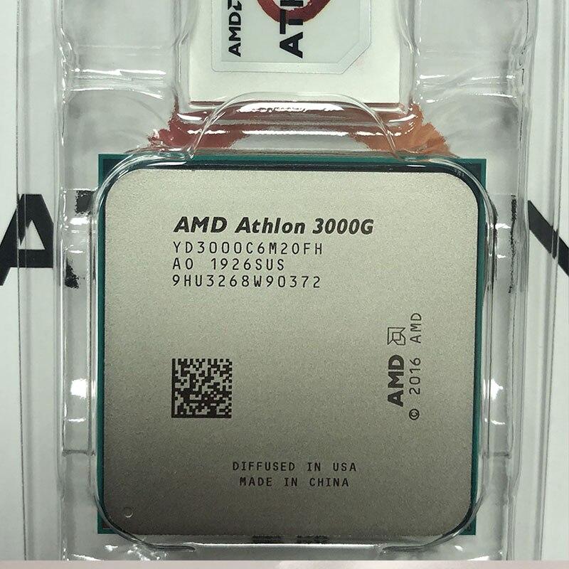 AMD Athlon 3000G X2 3000G 3,5 GHz Dual-Core Quad-Hilo de procesador de CPU YD3000C6M2OFH hembra AM4 nuevo