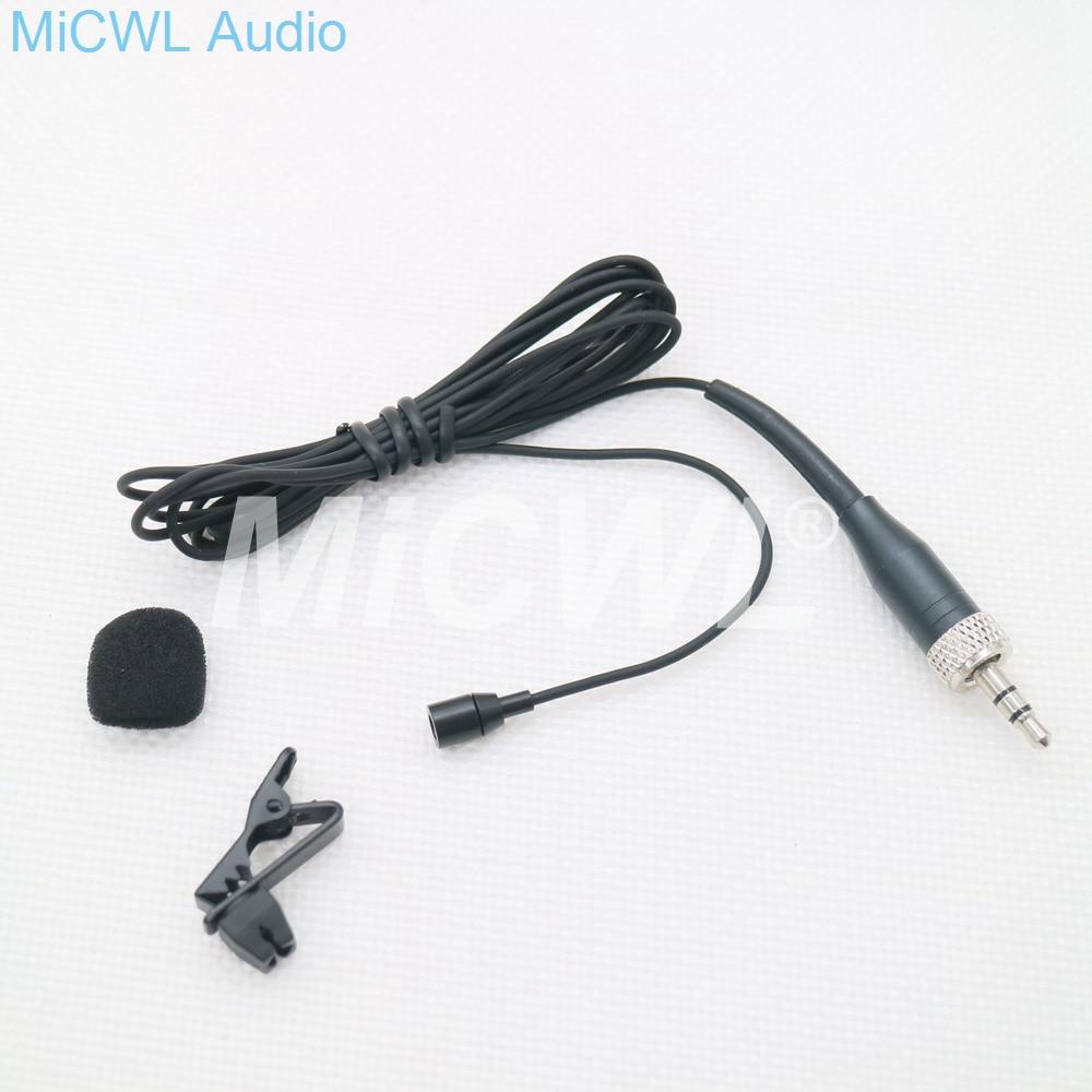 Micrófono de solapa con Clip de corbata negro Beige para Sennheiser inalámbrico SK100 EW300 ew300 EW300 Lavalier Mic System