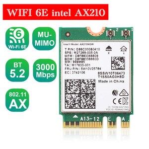 WIFI 6E intel AX210 Bluetooth 5,2 M.2 AX200NGW 2,4G/5G двухдиапазонный Wi-Fi 2400/3000 Мбит/с 802.11ax Wifi 6 MIMO для ноутбуков Windows 10