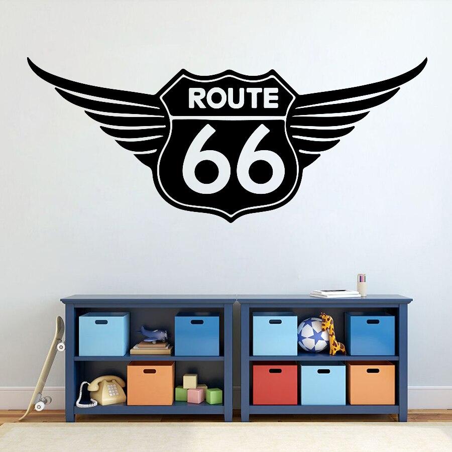ملصق حائط من الفينيل X437 ، ملصق حائط مرآب مع 66 رقم ، لنافذة السيارة ، للديكور المنزلي