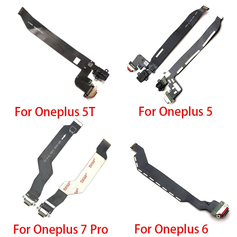 5 unids/lote placa de carga PCB Flex para Oneplus 1 2 3 5 5T 6 7T 7 Pro conector de puerto USB Dock Cable de cinta de carga