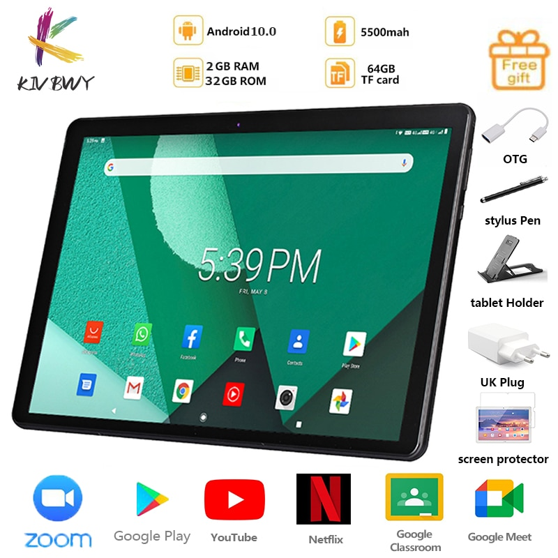 New Arrival 4G LTE Tablets 10.1 Inch Android 10.0 Octa Core Google Play Dual 4G SIM Cards GPS zoom  Bluetooth WiFi Tablet Pc
