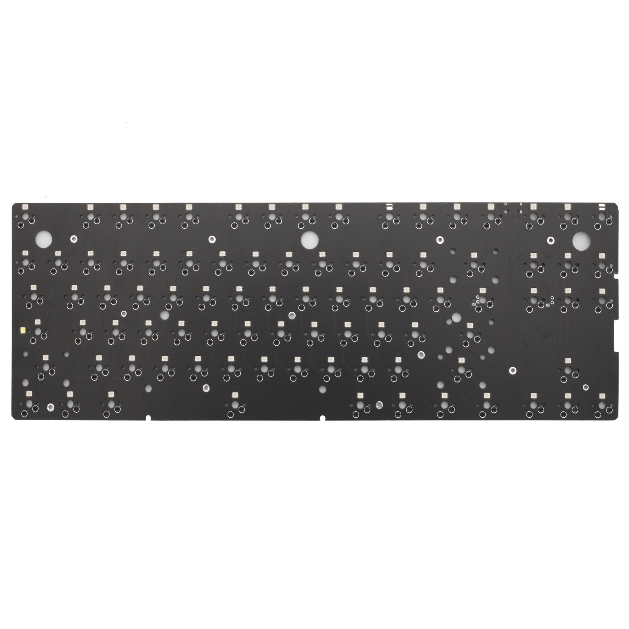 Bm80 bm80rgb 80% rgb حار قابل للتبديل مخصص لوحة المفاتيح الميكانيكية PCB مبرمجة كامل rgb التبديل تحت توهج نوع c qmk عبر البرامج الثابتة