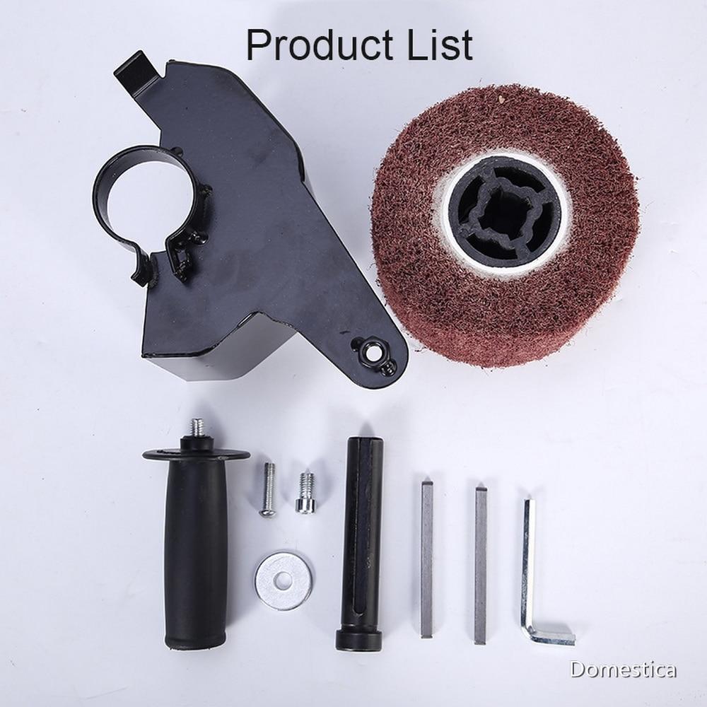 Pulido con amoladora angular eléctrica, accesorios de fijación, lijadora de Metal, acero, madera, Metal M10/M14 + máquinas de pulido de nailon
