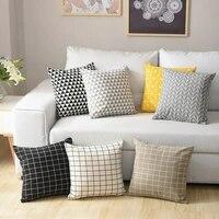 geometric cotton linen cushion cover pillow cover sofa throw modern art pattern 4545cm home decoration decorative pillowcase