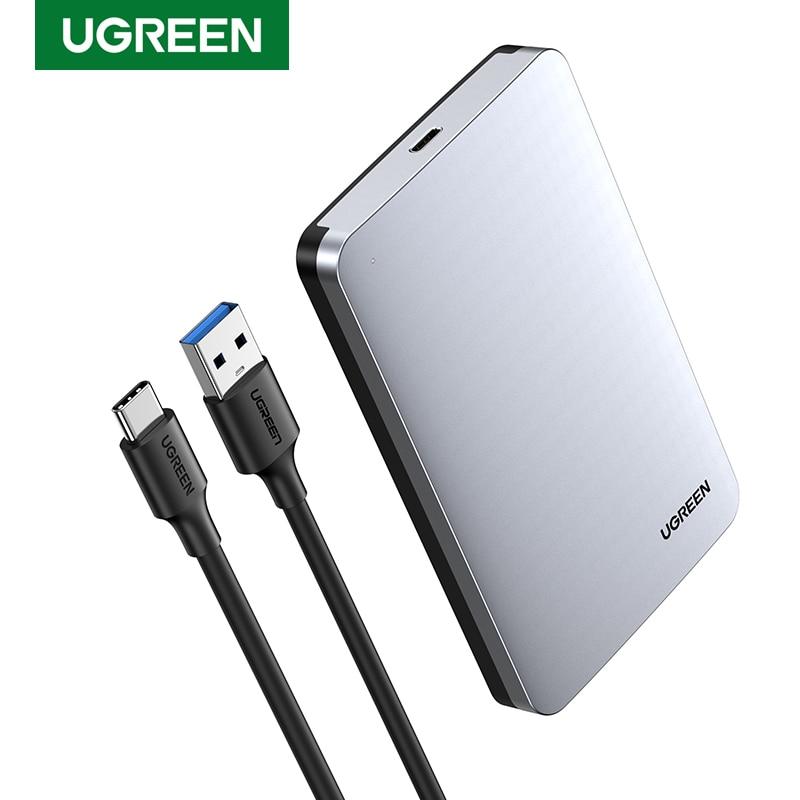 Ugreen HDD Case 2.5 6Gbps SATA to USB C 3.1 Gen 2 External Hard Drive Box Aluminum Case HD For Sata