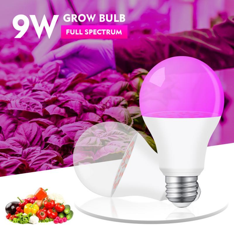 Лампочка для роста растений, светодиодные лампы для роста растений, 9 Вт, лампочка с изображением дракона и фруктов, лампочсветильник полног...