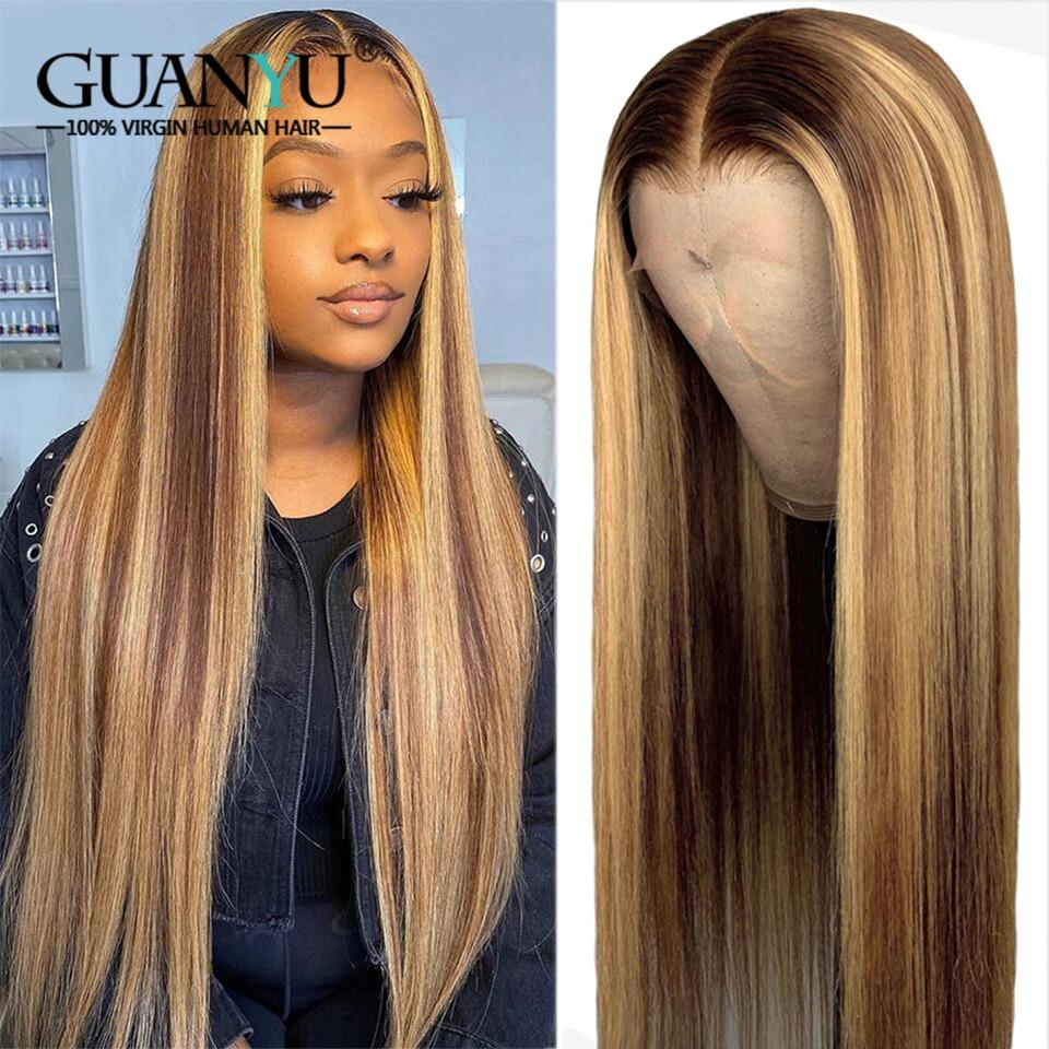 destaque do laco frontal peruca de cabelo humano 13x4 pre arrancadas brasileiro remy