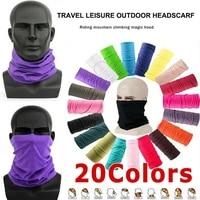 multifunctional outdoor sport scarf neck warmer cover wrap face bandana dustproof hiking cycling seamless head breath v9z4