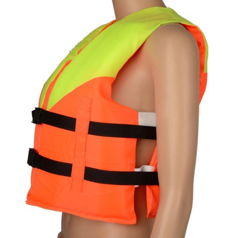 Молодежная Детская универсальная куртка из полиэстера для плавания, Лыжный жилет для катания на лодках, спасательный жилет, куртка со свистком, водный спортивный жилет