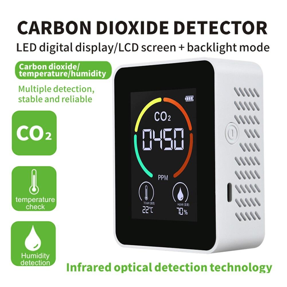 Detector de ar Qualidade do ar do Agregado Monitor de Poluição do ar Detector de Co2 Termohigrômetro Casa Digital Inteligente Analisador Familiar