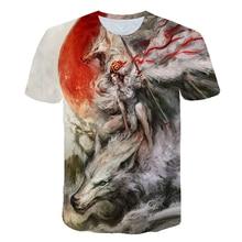 2019 Starry Wolf 3D print Tshirt Unisex Fashion Casual Brand Short Sleeve T-shirt Summer Spring Loose Tops&Tees Camiseta Animal