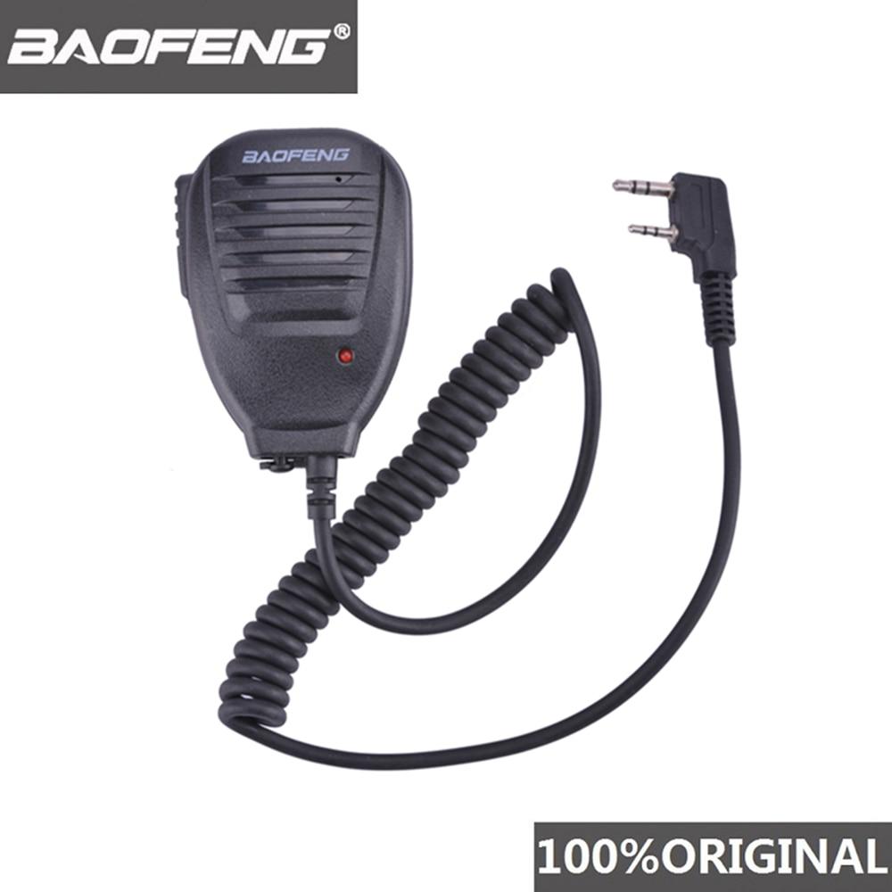 100% الأصلي BaoFeng اسلكية تخاطب 50 كجم ميكروفون المتكلم ل Baofeng UV-5R BF-888S ميدلاند راديو الاتصالات الملحقات