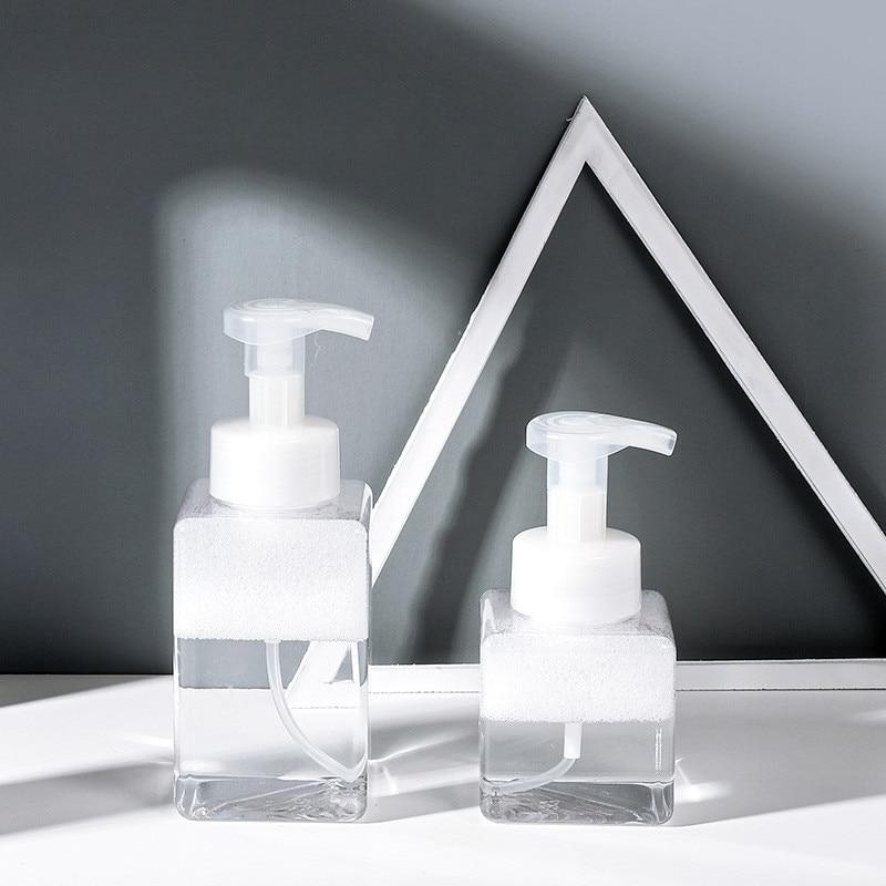 250/400 ml limpar vazio espuma garrafa espremedor mão lavagem líquido sabão espuma garrafa pet cosméticos recipientes dispensador atacado