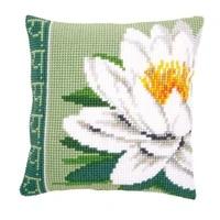 latch hook cushion kit gift diy needlework crocheting throw pillow unfinished yarn cross stitch embroidery pillowcase flower