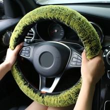 Winter Super Soft Plush Car Steering Wheel Cover Universal,Warm Faux Fur Auto Handlebar on the Steering-Wheel Braid Beautiful