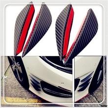 4Pcs Black Carbon Fiber Car Spoiler Canards Front Bumper Fin Body Kit forFerrari 488 SP38 Portofino FXX-K 812 LaFerrari J50