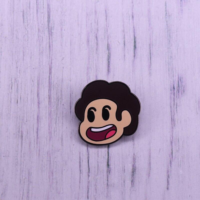 Retrato De Steven Universo lapela pin Broche Dos Desenhos Animados Crachá Série Americana