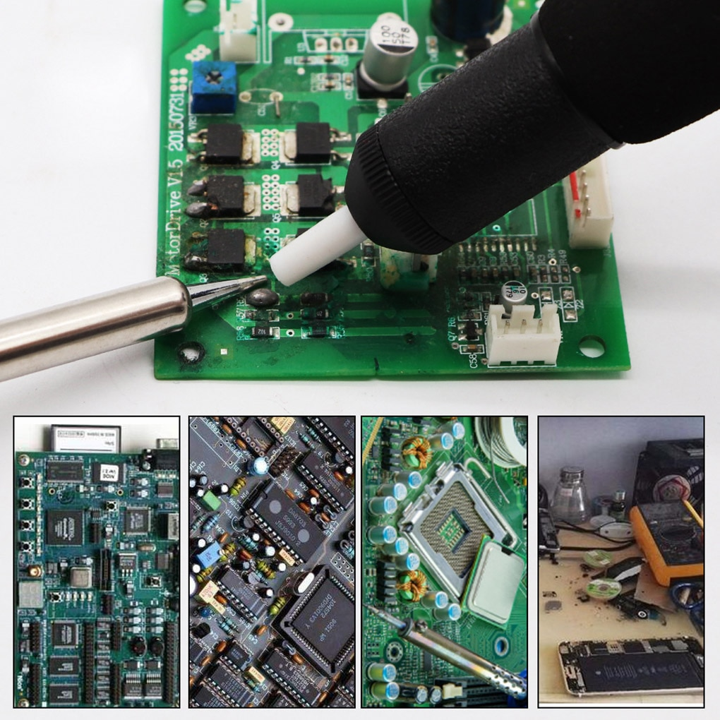 Plastic Powerful Desoldering Pump Suction Tin Vacuum Soldering Iron Desolder Gun Soldering Sucker Pen Removal Hand Welding Tools