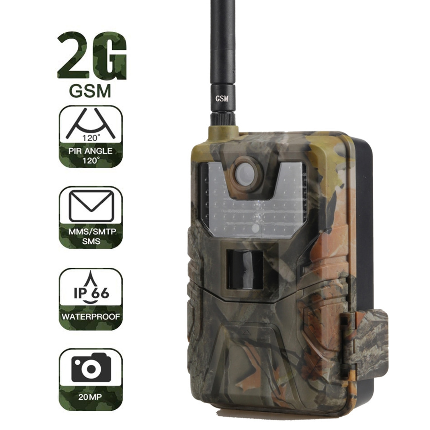 HC900M Hunting Camera 20MP 1080P 940nm Wild Camera Night Vision Photo Traps 2G SMS MMS SMTP Cellular Email Trail Camera Scout недорого