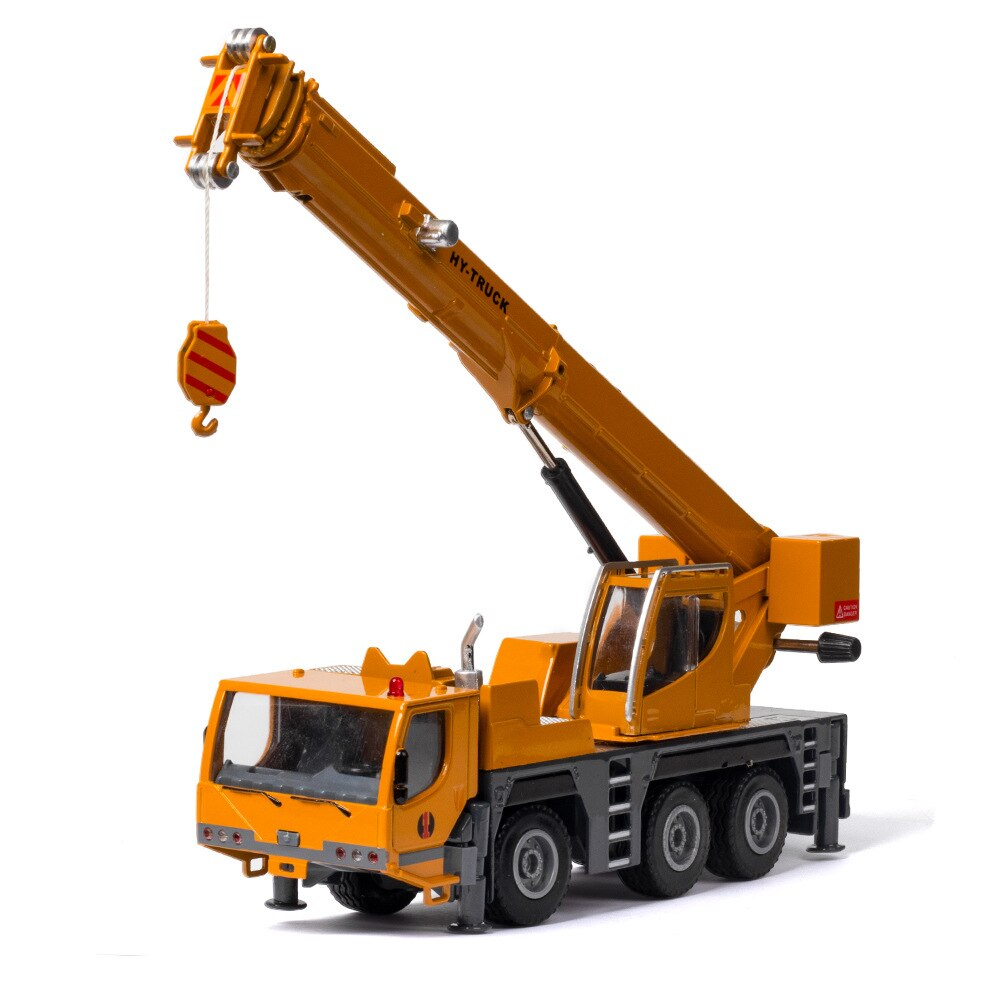 1:50 Alloy Car Model Diecast Toy Vehicle Simulation Heavy-duty Movable Toy Crane Engineering Vehicle Truck Wheels Boys Toys Cars kid model toys 1 50 scale engineering vehicle truck car model 140m3 motor grader high line series 85544 diecast model toys