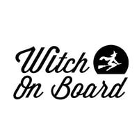 167 6cm witch on board sticker funny car window bumper novelty jdm drift vinyl decal sticker car styling car sticker