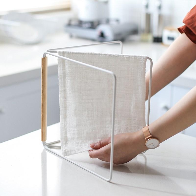 Criativo ferro pano de armazenamento rack papel toalha sundries armazenamento titular espaço economia vertical organizador da cozinha pendurado prateleira pano
