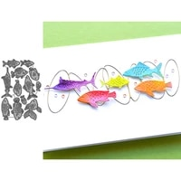 seabed fish metal cutting dies for scrapbooking handmade tools mold cut stencil new diy card make mould model craft decoration