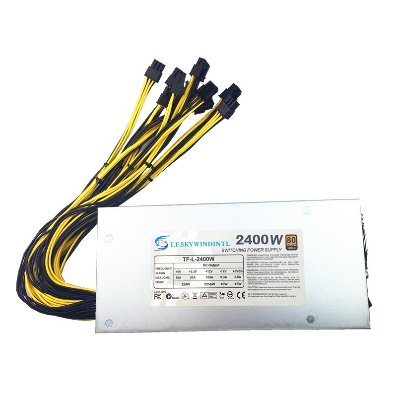 2U 2400W التعدين امدادات الطاقة + 12V 216A امدادات الطاقة الصانع الجملة 2400w التعدين امدادات الطاقة 200-240v ل أسيك مينر GPU