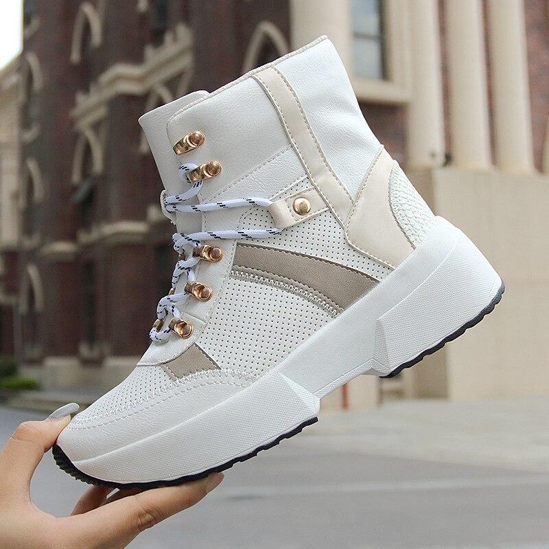 2021 женская повседневная обувь, модные кроссовки на шнуровке, зимние сапоги на платформе, женские сапоги, теплая женская обувь, женские сапоги