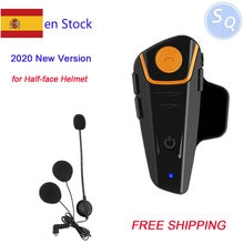 2020 neue Version Bluetooth Helm Intercom BT-S2 IPX7 Wasserdichte BT-S2 1000m Headset Motorrad bluetooth helm Intercom