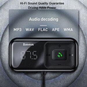 Image 3 - Baseus 3.1A Быстрая зарядка USB Автомобильное зарядное устройство fm передатчик Bluetooth беспроводной автомобильный комплект громкой связи Aux аудио MP3 плеер быстрое зарядное устройство