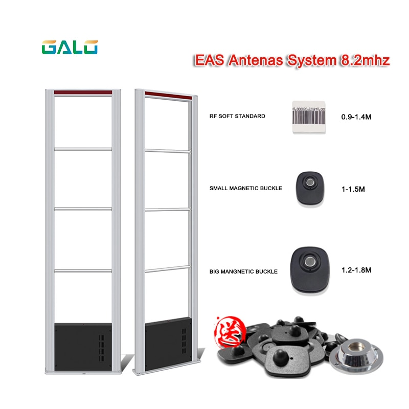 Retail 8.2MHz RF Dual EAS Gate Alarm Scanner Antenna Anti-Theft Security System Sensor Gate-Alarm