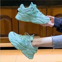 womens chunky sneakers thick bottom platform vulcanize shoes fashion breathable casual running shoe for woman female 2021 new