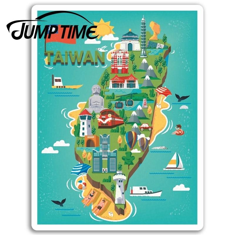 Jump Time for  Taiwan Vinyl Stickers Taipei Fun Travel Sticker Laptop Luggage Truck Window Bumper Decal Waterproof Accessories