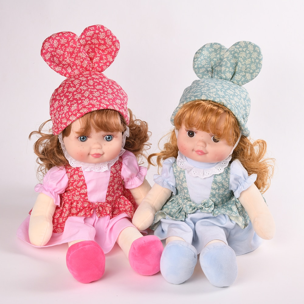 Muñeca de peluche de 40cm con cara pecas, juguete para niña, juguete Reborn con cara de silicona, vestido de princesa con ratón, juguete para bebés, regalo de cumpleaños