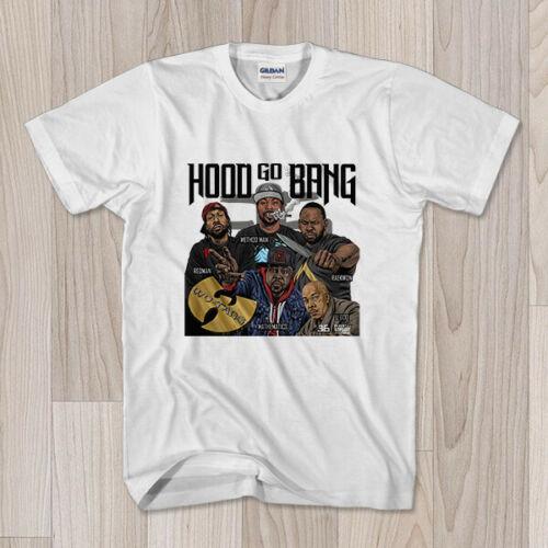 Camiseta Wu Tang Clan con capucha, método Go Bang Redman, hombre Raekwon Harajuku, ropa de calle, camisa para hombre S - 2Xl