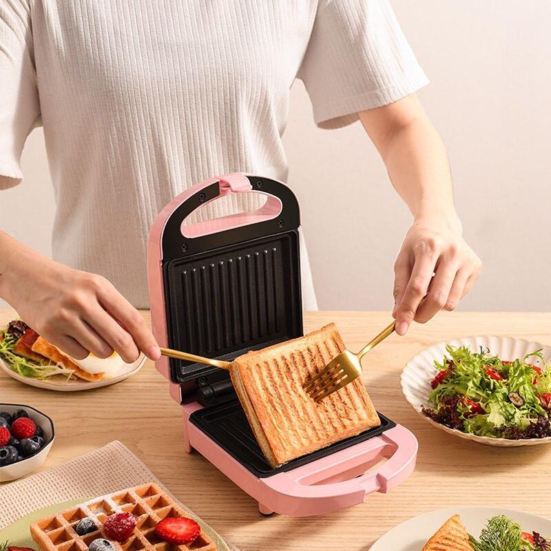 صانع الساندوتشات الإفطار محمصة آلة المنزل ضوء الغذاء الهراء صانع متعددة الوظائف التدفئة نخب ضغط محمصة