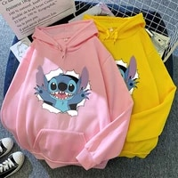 broken egg stitch girl autumnwinter womens hoodie printed all match personality mens and womens casual sweatshirt