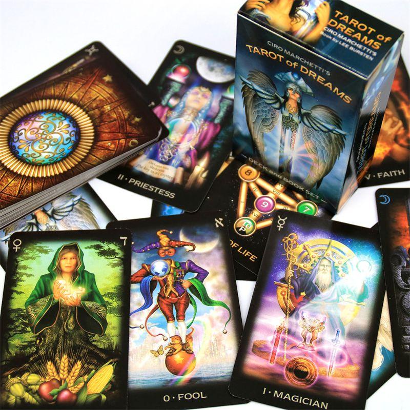 Таро мечты Полный английский 83 карты палуба Oracle игральные карты гадание игры XXUF