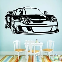 funny car waterproof wall stickers wall art decor home decoration accessories for living room removable decor wall decals