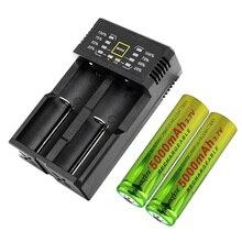 2020 nouveau 4 pièces Rechargeable 118650 5000mAh Lithium Li-ion Batteries 18650 batterie avec chargeur pour ordinateur portable caméra Mini ventilateur