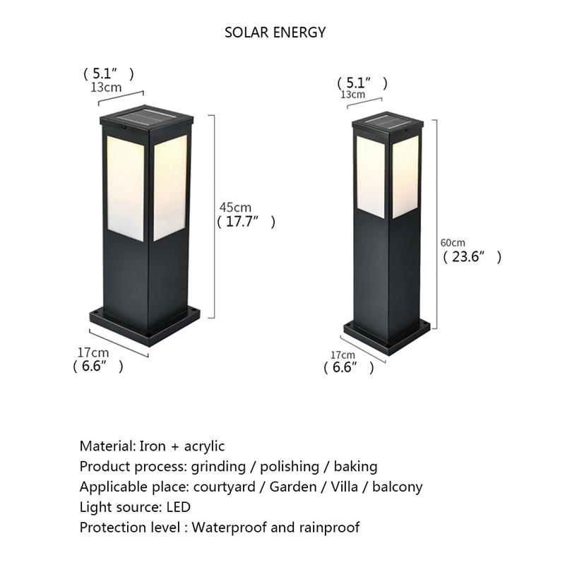 FAIRY Solar Lawn Light Outdoor LED Waterproof Modern Garden Lamp Home Decorative For Villa Duplex Park enlarge